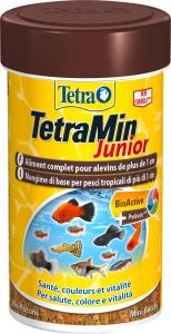 Aliment complet pour alevins de plus de 1 cm - Tetra Min Junior - 100 ml
