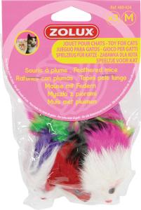 3 souris à plumes - Zolux - Taille M