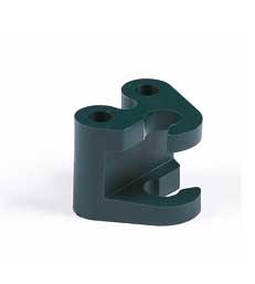 Coupleur twister pour tuteur - en fibrede verre - Peacock -  8 mm - x 4