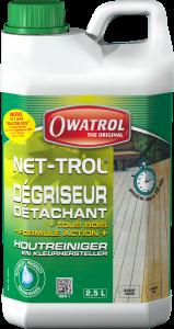 Dégriseur, détachant tous bois - Owatrol - Net-trol - Bidon de 2,5 L