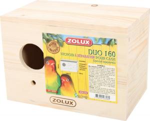 Nichoir à séparation pour cage - Duo 160 - Zolux - Spécial inséparables (Agapornis)