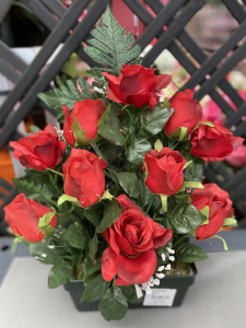 Jardinière haute de roses - Artificiel