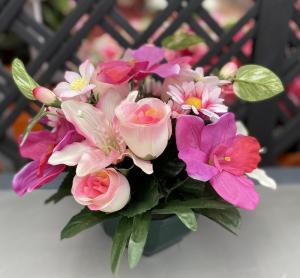 Coupe de fleurs variées - Artificiel