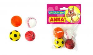 4 balles sport en mousse - Anka