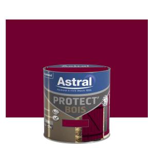 Peinture Protect'Bois - Astral - Satin - Rouge basque - 0.5 L