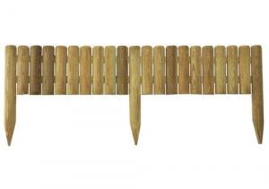 Bordure demi-rondins à planter - Québec- Diamètre 5 , H 20/35 x 100 cm