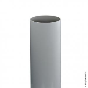 Tube de descente pour gouttière de développé 25 - GIRPI - PVC - Ø 80 mm - 2,80 ml - Gris