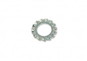 Rondelle denture - En acier zingué - 5 x 10 mm - Blister de 100 pièces