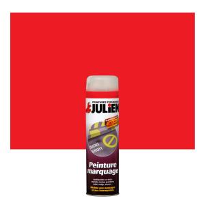 Aérosol peinture de marquage - Peintures Julien- Rouge Fluo - 0.5 L