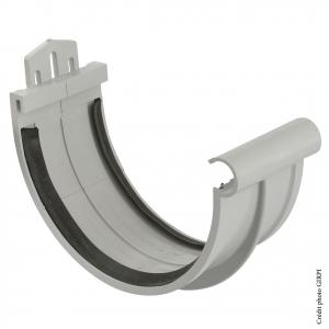 Jonction à joint pour gouttière développé de 33 - GIRPI - PVC - Gris