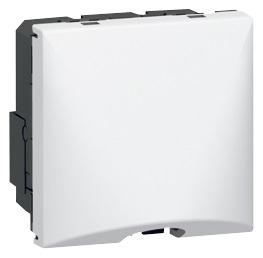 Sortie de câble avec serre-câble Mosaic - Le Grand - Blanc - 2 modules