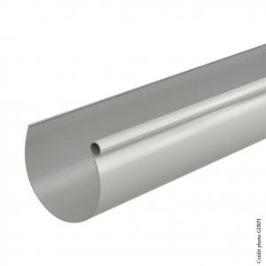 Gouttière demi-ronde développé 25 - GIRPI - 4 m - Gris - Vendu au mètre linéaire