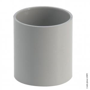 Manchon pour gouttière développé de 25 - GIRPI - Femelle-Femelle - Ø 80 mm - Gris