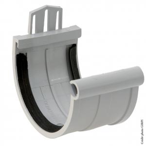 Jonction à joint pour gouttière développé de 25 - GIRPI - PVC - Gris