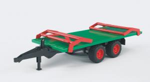 Remorque de transport de paille avec 8 bottes de paille - Burder