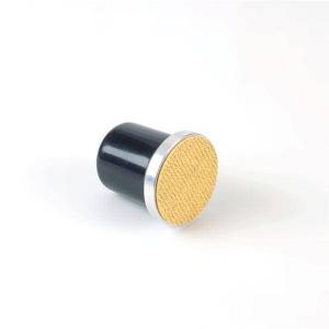 Tampon essuyage rond pour plaque à crêpière en fonte - Krampouz - Ø7 cm
