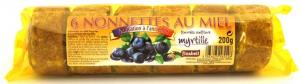 Nonnettes au miel fourrée à la confiture de myrtille - Finabeil - x6 - 200 gr