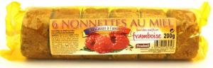 Nonnettes au miel fourrée à la confiture de framboise - Finabeil - x6 - 200 gr