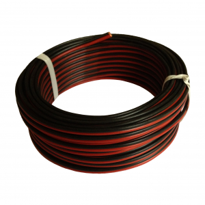 Câble Hi-Fi 03VH-H - ELECTRALINE CBB - Rouge/Noir - 2 x 0.75 mm² - 25 m