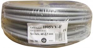 Câble H05VV-F - ELECTRALINE CBB - Gris - 4 x 2.5 mm² - 50 m