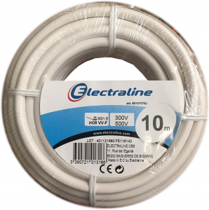 Câble H05VV-F - ELECTRALINE CBB - Blanc - 3 x 1.5 mm² - 10 m