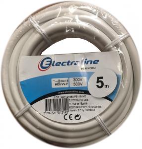 Câble H05VV-F - ELECTRALINE CBB - Blanc - 3 x 1.5 mm² - 5 m