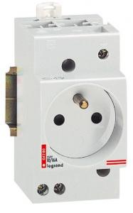 Prise de courant modulaire avec terre - Le Grand - 10/16 A - 2,5 modules