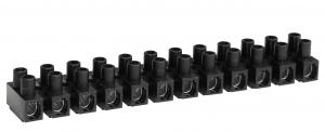 Barrette de connexion - 4 mm² - Noire