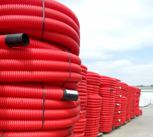 Gaine TPC - OD PLAST - Rouge - Ø 9 cm L 25m