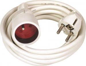 Rallonge électrique HO5VVF 3G1.5 - Voltman - 10 m - Blanc