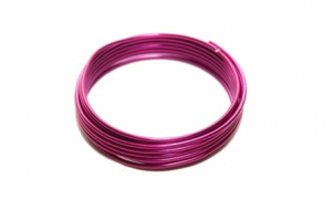 Fil en aluminium flexible - Horticash - rose - Ø 2 mm