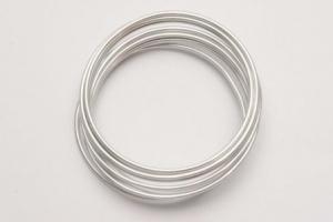 Fil en aluminium flexible - Horticash - argent - Ø 2 mm