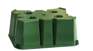 Socle vert pour cuve 500 L BELLI - 60 x 75 x H 30 cm