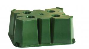Socle vert pour cuve 350 L BELLI - 60 x 60 x H 30 cm