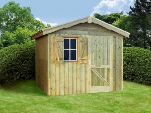Abri de jardin en panneaux - 20 mm - Belle Ile - Toit 2 pentes - 2,44 x 2 ,15 m