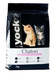 Croquettes Yock nutrition pour chaton - 3 kg