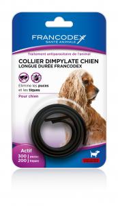 Collier antiparasitaire chien - Francodex - Noir