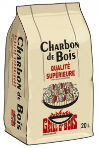 Charbon de bois - La Forestiere du Nord- Premium qualite restaurant - 20l
