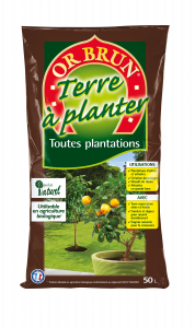 TERRE A PLANTER 50 L - OR BRUN