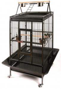Cage pour perroquet - 83 x 77 x 168 cm - Gris anthracite