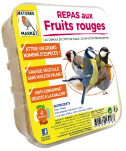 Repas aux fruits rouges pour oiseaux - Natures Market - 315 gr