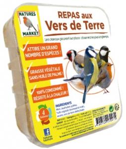 Repas aux ver de terre pour oiseaux - Natures Market - 315 gr