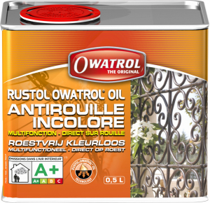 Antirouille incolore multifonction - Owatrol - Rustol-Owatrol - Bidon de 0,5 L
