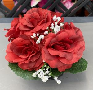 Petite coupe roses et gypsophile - Artificiel