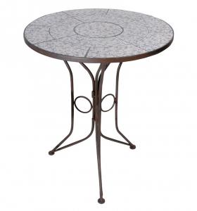 Table en céramique patiné - Esschert Design - Bleu/Blanc