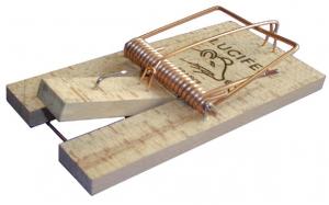 Tapette piège à rats - Lucifer - bois - 8,5x17,2 cm