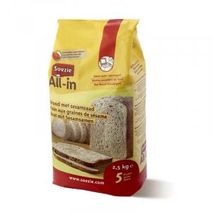 Farine All-in pour pain aux graines de sésame - Soezie - 2,5 kg
