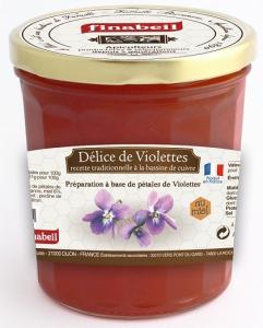 Confiture Délices de violettes au miel - Finabeil - 375 gr