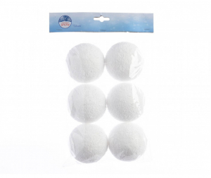 Boules de neige - Blanc - Ø 8 cm