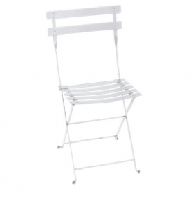 Chaise pliante Bistro - Fermob - Métal - Blanc Coton
